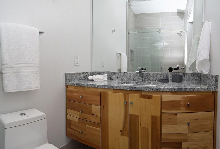 Indianapolis Property Penn Building bathroom double vanity